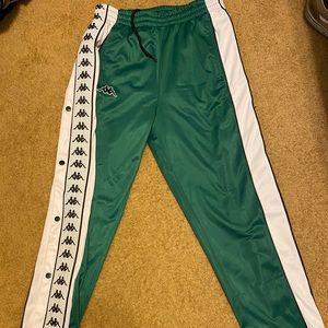 Kappa snap-away track pants